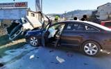 Mszana Dolna. Karambol z udziałem czterech aut. Dwie osoby w szpitalu [ZDJĘCIA]
