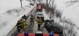 Wypadek w Lisewie. Dwóch kierowców zabrało pogotowie. Zdjęcia