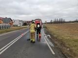 Gmina Zbąszyń: OSP Nądnia - wyjazd do rozlanego oleju - Droga Wojewódzka 302 - 27 lutego 2021