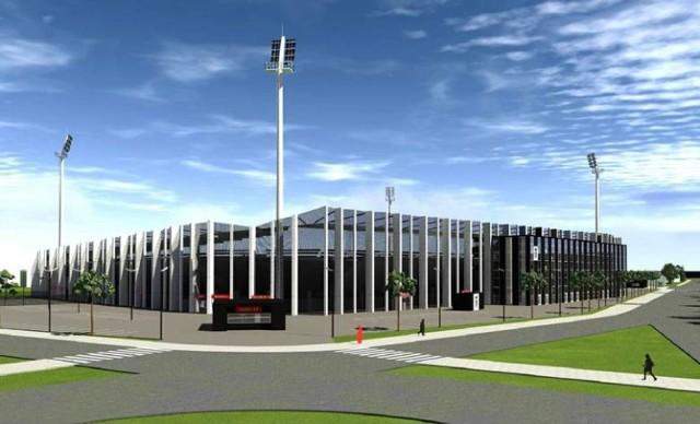 """Prezydent chce sprawdzić jaki jest stan prac przy budowie nowego stadionu """"biało - czarnych"""""""