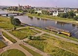 Kraków. Panorama Krakowa z diabelskiego młyna nad Wisłą [ZDJĘCIA]
