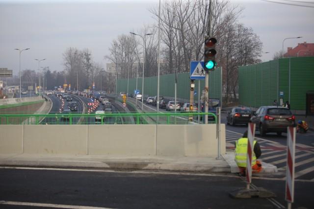 Skrzyżowanie ulic Kościuszki i Armii Krajowej w Piotrowicach