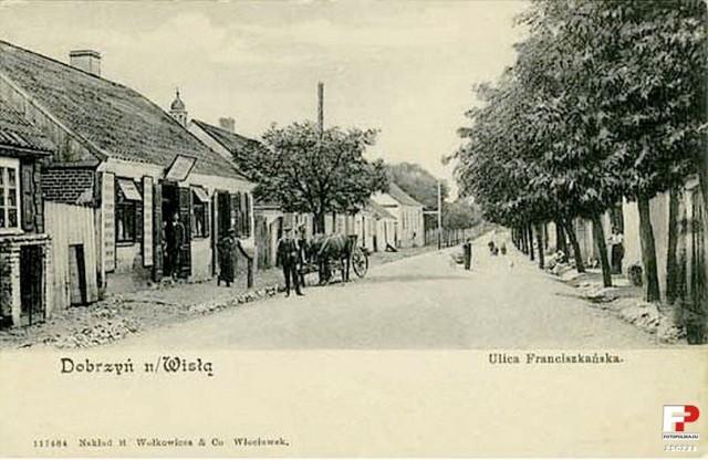 Lata 1910-1915 , Dobrzyń n. Wisłą, ul. Franciszkańska.