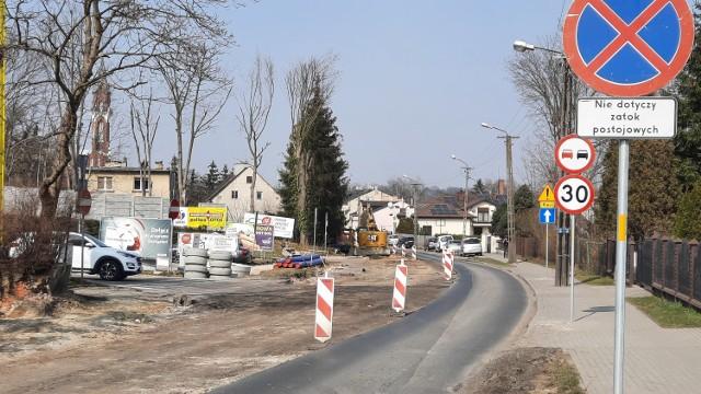 Remont ulicy Częstochowskiej w Kaliszu.