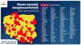 Nowe obostrzenia. 152 powiaty w czerwonej strefie. Na liście Warszawa i inne duże ośrodki [Lista miast i powiatów]