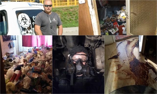 Robert Krzywicki z Legnicy sprząta miejsca zbrodni, ale też mieszkania zbieraczy