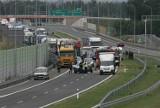 Pierwszy wypadek na drodze ekspresowej s3 pod Legnicą [ZDJĘCIA]