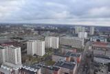 Katowice z 27 piętra Altusa. Tak wygląda miasto w lutym 2020 roku ZDJĘCIA Ile żurawi widzicie?
