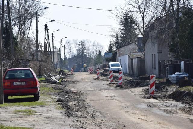 Trwa przebudowa ulicy Złotej w Częstochowie