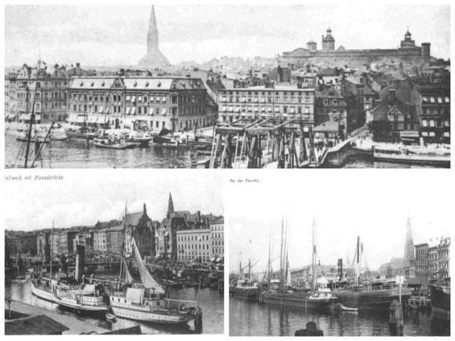 """Tu biło serce handlowe miasta, które powstało nad rzeką i od wody się nie odwracało. Zobaczmy, jak wyglądała ta część miasta jeszcze sto lat temu.   Nabrzeże Bollwerk było przez kilka wieków głównym nabrzeżem średniowiecznego Szczecina i przede wszystkim służyło miastu jako port handlowy. Co oznacza słowo """"bollwerk""""?  - Użyte tu określenie """"Bollwerk"""" (a w języku środkowo-dolnoniemieckim """"bolwerk"""") oznaczało nie tylko brzeg rzeki jako taki, ale również każde jego drewniane umocnienie z grubych bali, wał ochronny, a nawet groblę - mówi Jan Iwańczuk, pasjonat historii Szczecina. - Z czasem pierwotne znaczenie tego określenia tak skutecznie znikło ze świadomości językowej, że zaczęto tak mówić również o kamiennych nabrzeżach. Na całej długości muru miejskiego ciągnącego się wzdłuż brzegów rzeki Odry usytuowane były tzw. bramy wodne (furty), a u wylotu ulic przechodzących przez te bramy, położone były wysunięte w kierunku rzeki pomosty ładunkowe, przerzucone ponad bagnistym brzegiem Odry.  Do czasu budowy trwałego nabrzeża z zacumowanych na rzece statków przemieszczano nimi towary do spichlerzy wybudowanych wzdłuż murów miejskich, a przygotowane do wysyłki przenoszono na statki."""