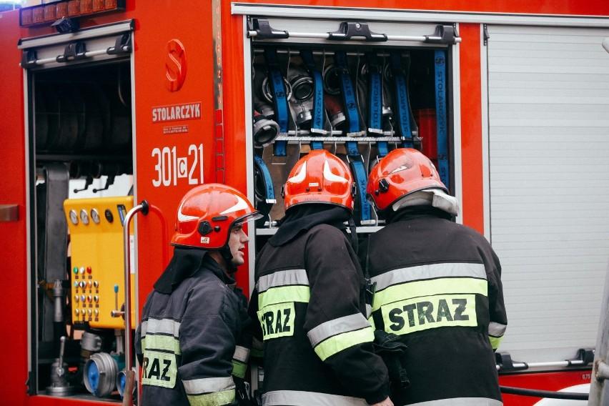 Pożar domku na działce ROD pod Bydgoszczą