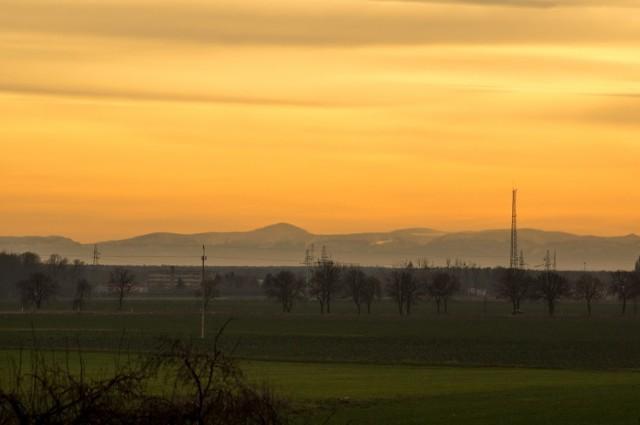 Fotografia wykonana w styczniu 2020r. pomiędzy Kartowicami a Szprotawą.