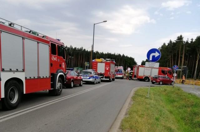 Do wypadku doszło do na budowie obwodnicy Olesna