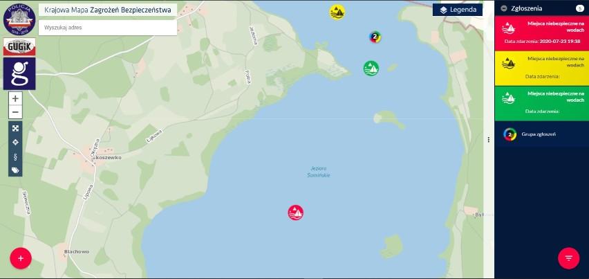 Kajakarze boją się pływać po Jeziorze Somińskim. Mamy filmiki z wyczynami skuterów wodnych