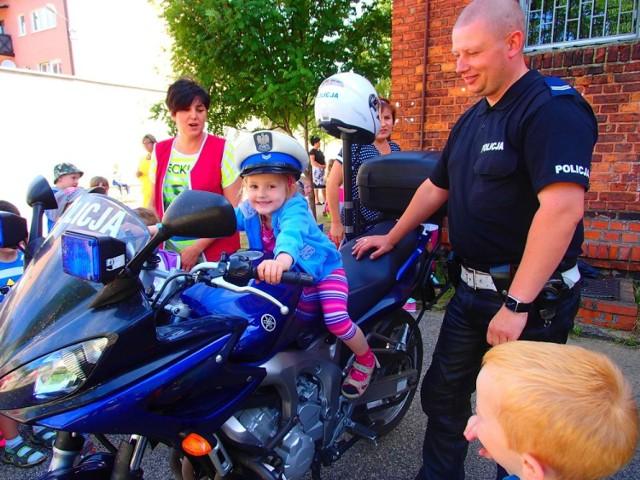 Kcynia: Patrol motocyklowy w kcyńskim przedszkolu [ZDJĘCIA]