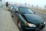 Zderzenia samochodów w sobotni mglisty poranek we Włocławku [zdjęcia, wideo]