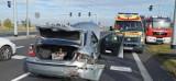 Gmina Łubowo. Wypadek dwóch aut na skrzyżowaniu w Woźnikach