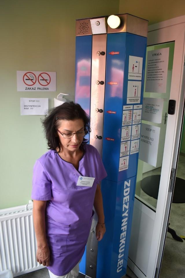 Automatyczna stacja do dezynfekcji stanęła w szpitalu w Krośnie Odrzańskim.
