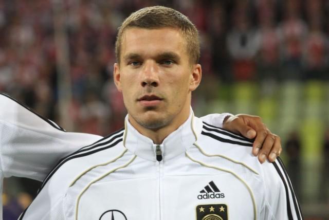 6.09.2011, Gdańsk: Lukas Podolski przed meczem Polska - Niemcy