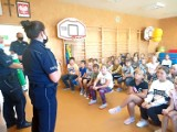 Starogard Gdański. Policjanci rozmawiali o bezpieczeństwie z najmłodszymi uczestnikami ruchu drogowego