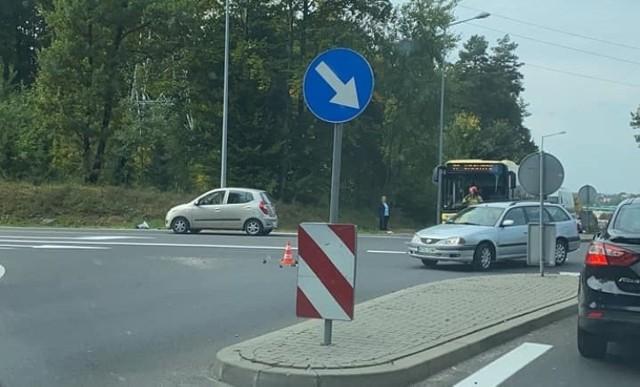 Wypadek na obwodnicy Olkusza