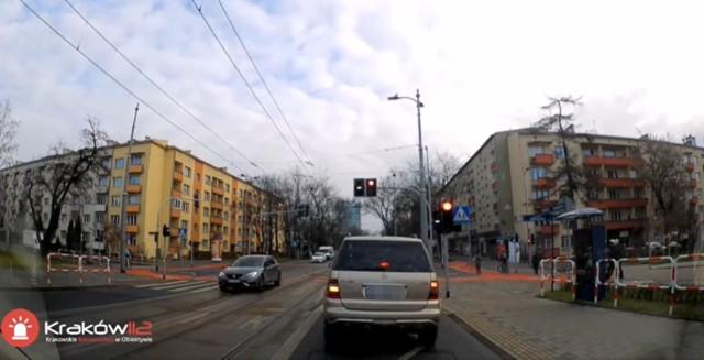 Policyjny pościg ulicami Krakowa