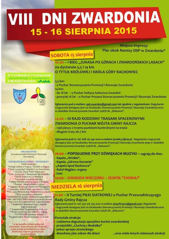 Plakat VIII Dni Zwardonia
