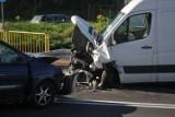 Groźna kraksa w Kostrzynie. Rozbite dwa samochody [ZDJĘCIA]