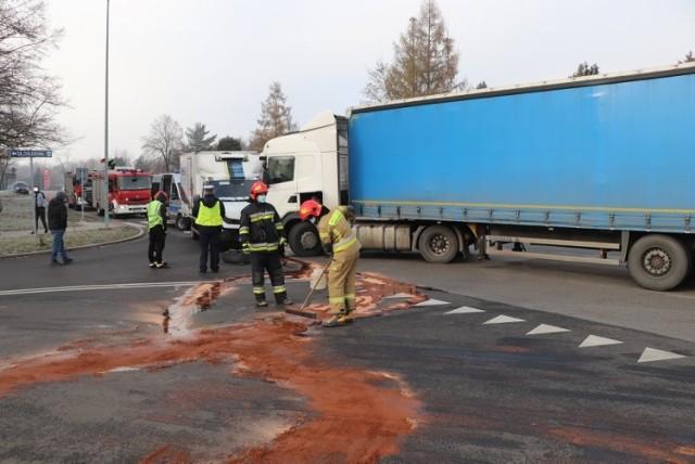 Tir staranował ciężarówkę w Jastrzębiu-Zdroju