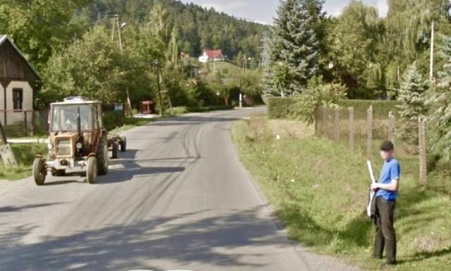 Wsie pod Nowym Sączem w kamerach Google Street View