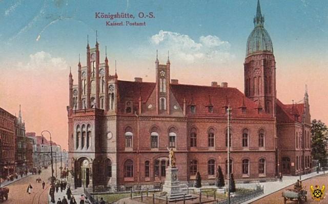 Urząd Pocztowy nr 1, przy ulicy Pocztowej. Rok 1918