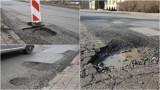 Tarnów. Kierowcy skarżą się na ulice pełne dziur. Po odwilży w Tarnowie są w opłakanym stanie. Łatwo o uszkodzenie samochodu! [ZDJĘCIA]