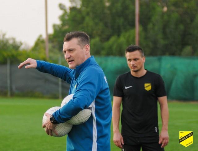 Czwartkowy trening popołudniowy piłkarzy Wieczystej - poświęcony stałym fragmentom gry
