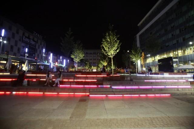 Katowice w letni wieczór, lipiec 2021