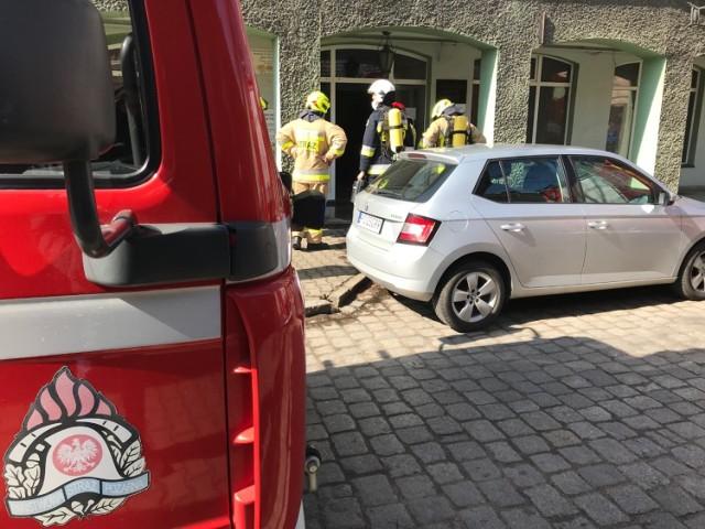 Pożar w kotłowni Domu Rzemiosła przy ulicy 3 maja w Międzychodzie (11.04.2021)