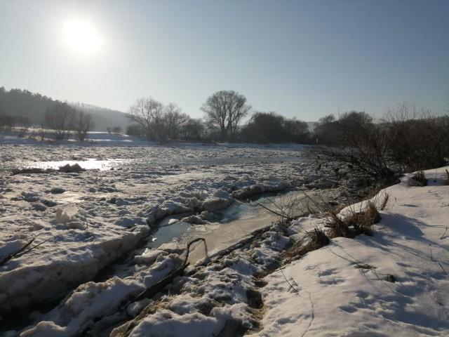 Rzeka San w okolicach Przemyśla.