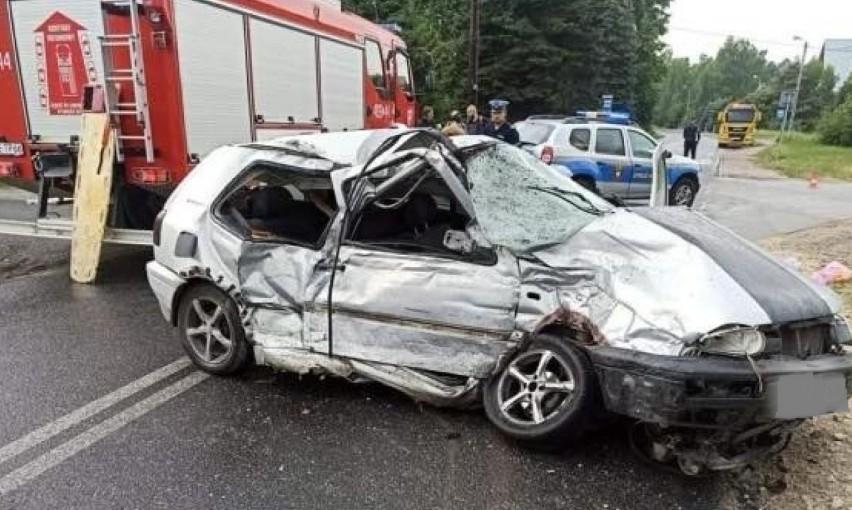 Kierowca volkswagena nie przeżył zderzenia z...