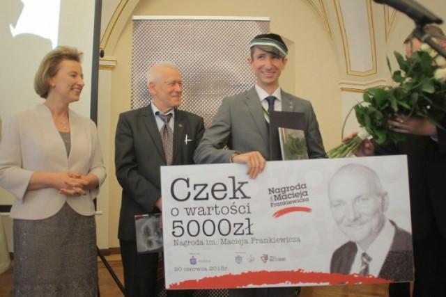 Członek Korporacji Chrobria otrzymał nagrodę im. Macieja Frankiewicza
