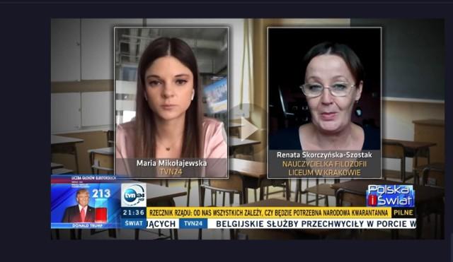 fragment programu w TVN 24