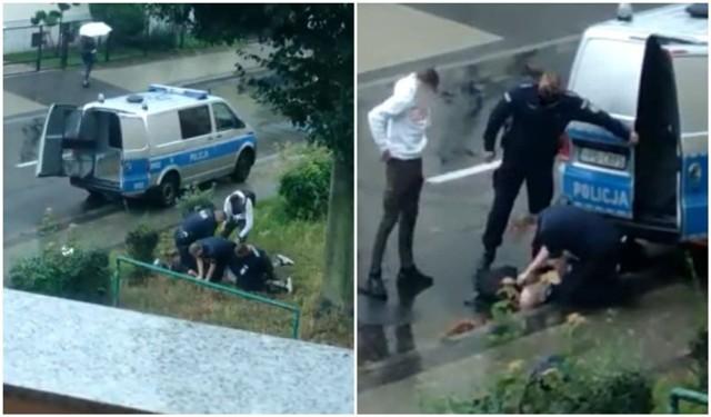 Interwencja policji w Lubinie 6.08.2021