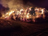 Gmina Gołuchów. Pożar stogu w Kucharach. Akcja gaśnicza trwała ponad 7 godzin