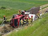 Wypadek ciężarówki na A4 w Mysłowicach. Korek ma 5 km