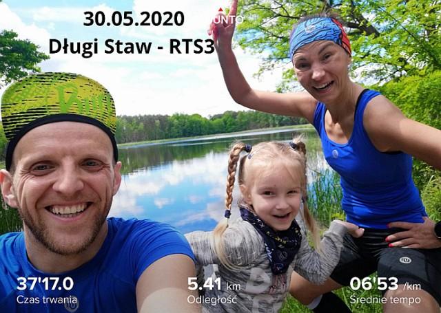 Kadry z zawodów Lake Tour Challenge May '2020, odbywających się przez cały miesiąc na terenie powiatu świebodzińskiego i województwa lubuskiego