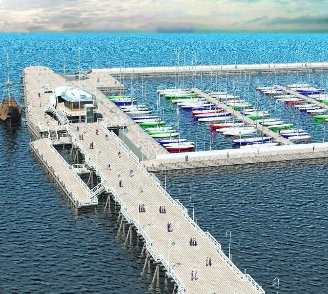 W 2011 roku zakończy się budowa przystani jachtowej przy molu