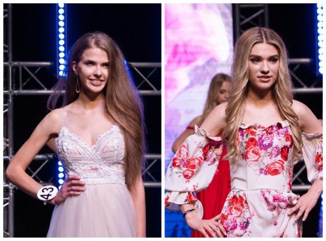 Klaudia Pyrz i Monika Wsolak podczas finału konkursu Miss Małopolski 2021