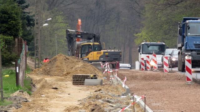 Przebudowa drogi Police-Szczecin w Przęsocinie – 6.05.2021