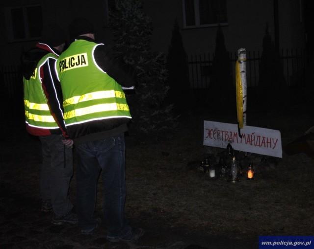 złamany krzyż w Bartoszycach