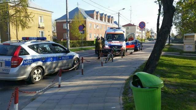 Do potrącenia rowerzysty doszło w Mońkach na skrzyżowaniu ulicy Słowackiego i Wyzwolenia