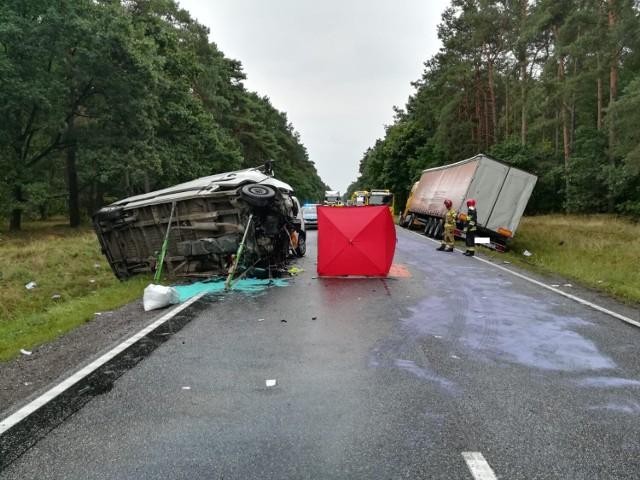 Cierpice. Śmiertelny wypadek na DK10 koło Torunia. Droga zablokowana!