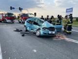 Wypadek w Opolu-Wrzoskach. Ciężarówka zmiażdżyła opla na ul. Wrocławskiej
